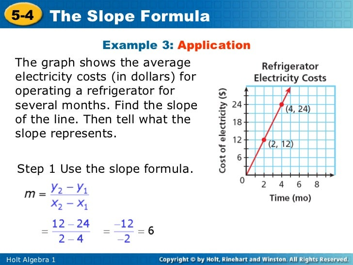 slope formula The slope is a measure of the steepness of a line, or a section of a line, connecting two points in this lesson, you will use several different formulas for slope and learn how those formulas .