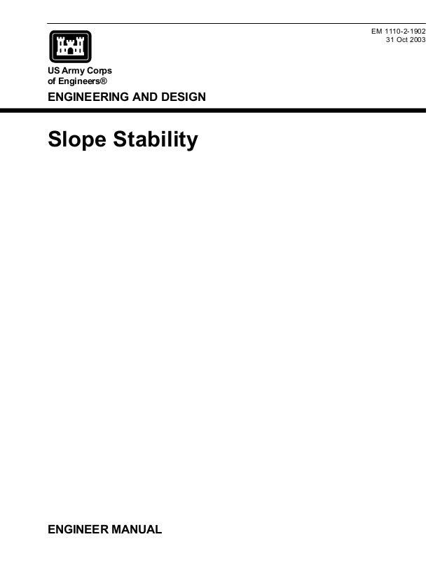 Slope stability usacoe