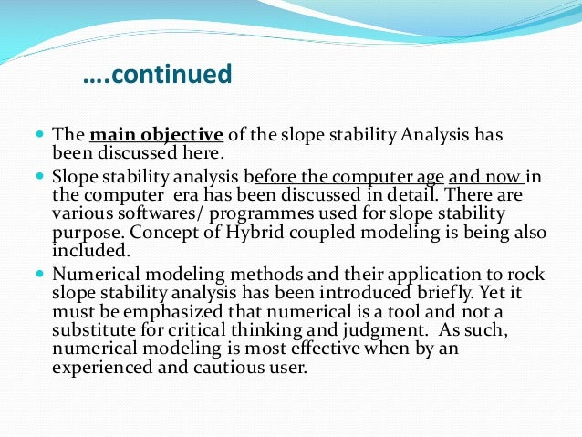 Mining Topic: Slope Stability