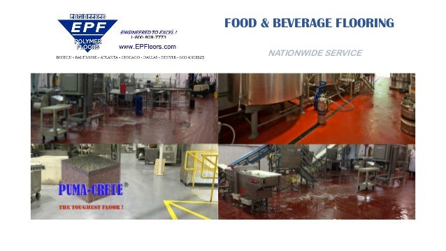 FOOD & BEVERAGE FLOORING NATIONWIDE SERVICE