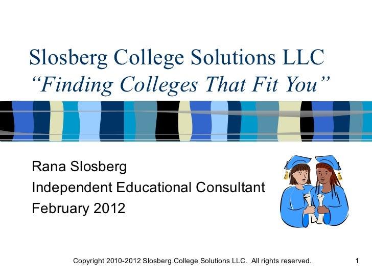 Slosberg College Solutions LLC