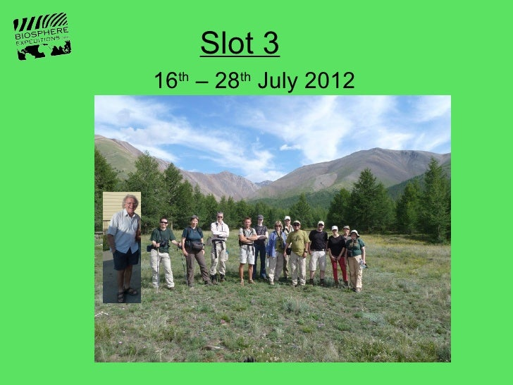 Slot 316th – 28th July 2012