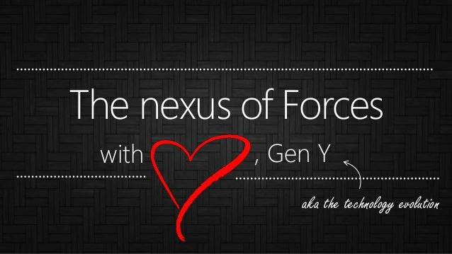 The nexus of Forces , Gen Ywith aka the technology evolution
