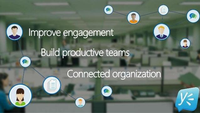 Improve engagement Build productive teams Connected organization