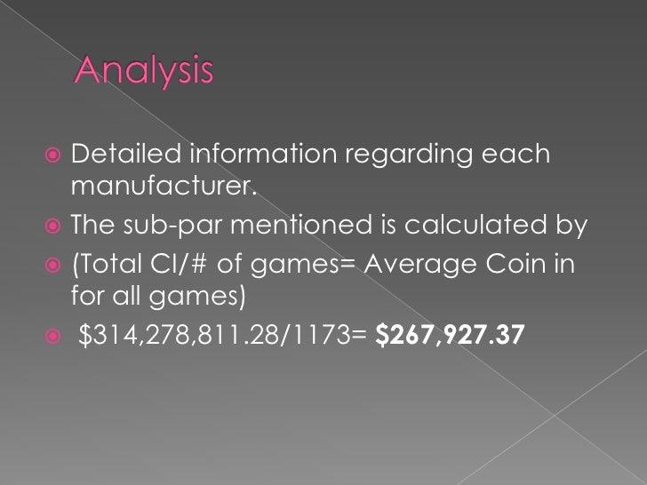 Slot performance analysis pdf