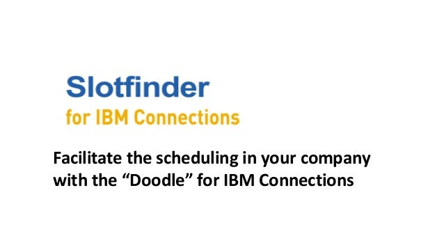 """Facilitate the scheduling in your company with the """"Doodle"""" for IBM Connections"""