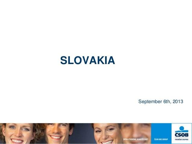 SLOVAKIA September 6th, 2013