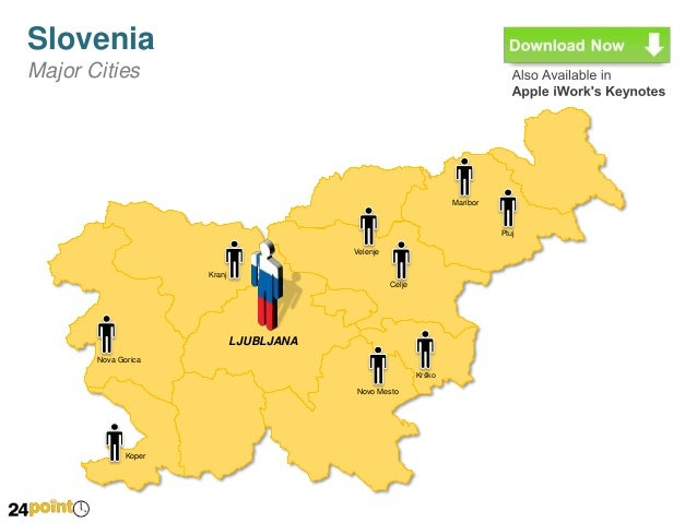 Slovenia Map Fully Editable PowerPoint Slides - Slovenia map download