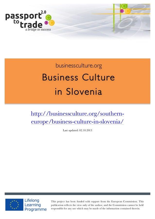 |  1        businessculture.org  Business Culture in Slovenia     http://businessculture.org/...