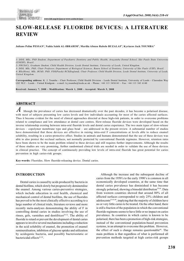 J Appl Oral Sci. 2008;16(4):238-44                          www.fob.usp.br/jaos or www.scielo.br/jaos    SLOW-RELEASE FLUO...