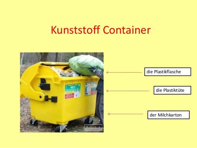 Kunststoff Container die Plastikflasche die Plastiktüte der Milchkarton