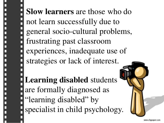 slow learners their psychology and instruction