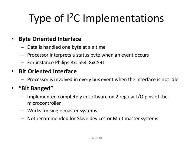Slow peripheral interfaces (i2 c spi uart)