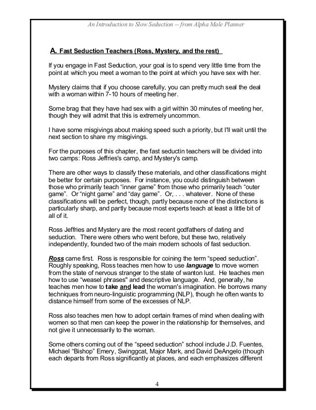 ross jeffries speed seduction 3.0 pdf