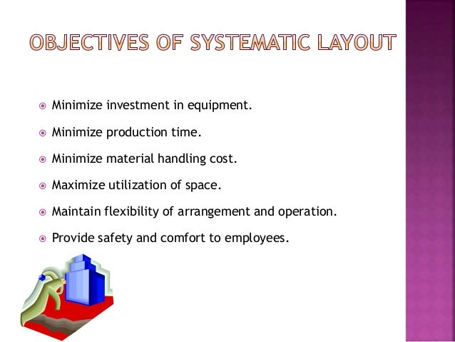 systematic layout Slp the systematic layout planning systematic refers to an organized, disciplined, to a problem or project assigned systematic layout planning is an organized way to.