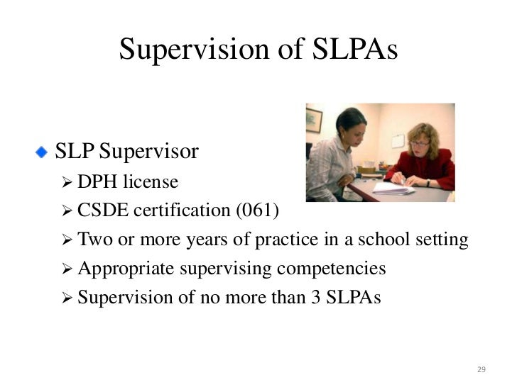 Supporting CT Schools with SLP Assistants and Aides (SLPAs)