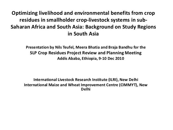 Optimizing livelihood and environmental benefits from crop residues in smallholder crop-livestock systems in sub-Saharan A...