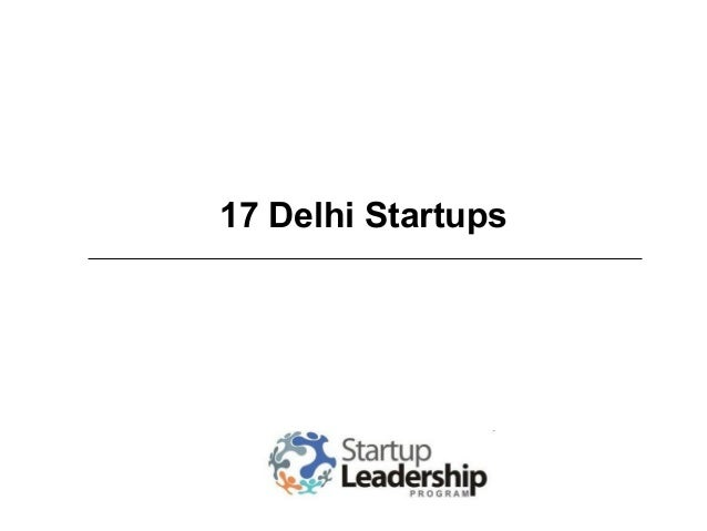 17 Delhi Startups