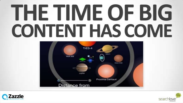 THE TIME OF BIG CONTENT HAS COME  v