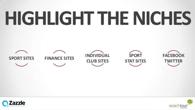 HIGHLIGHT THE NICHES SPORT SITES  FINANCE SITES  INDIVIDUAL CLUB SITES  v  SPORT STAT SITES  FACEBOOK TWITTER