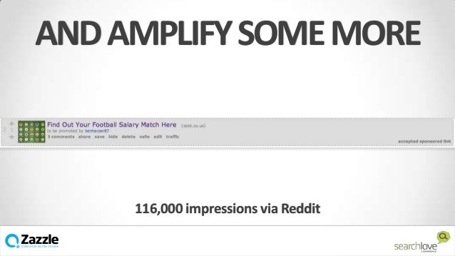 AND AMPLIFY SOME MORE  116,000 impressions via Reddit v