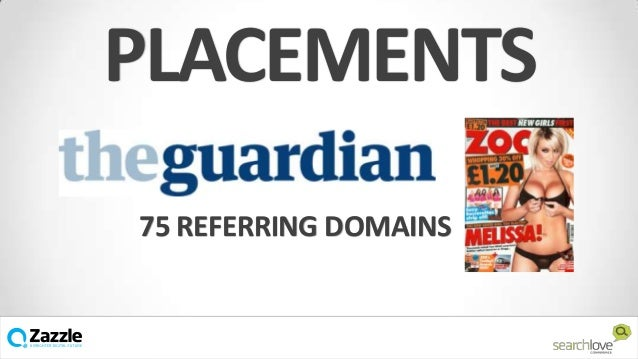 PLACEMENTS 75 REFERRING DOMAINS  v