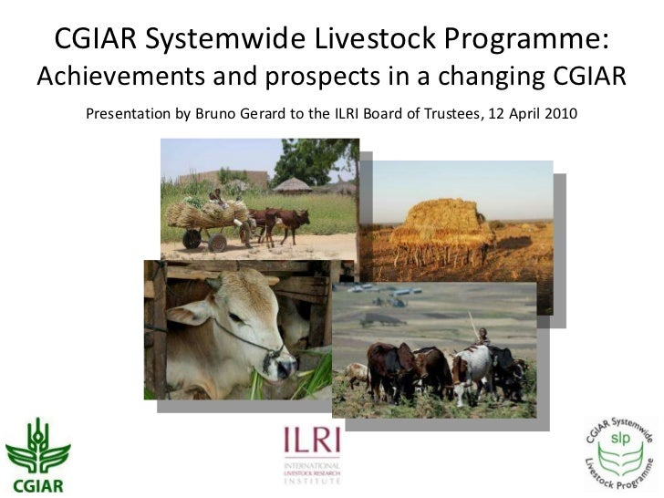 CGIAR Systemwide Livestock Programme:Achievements and prospects in a changing CGIAR<br />Presentation by Bruno Gerard to t...