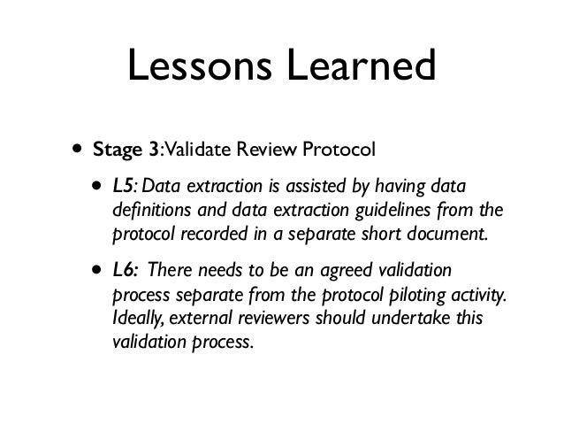 Dissertation process validation