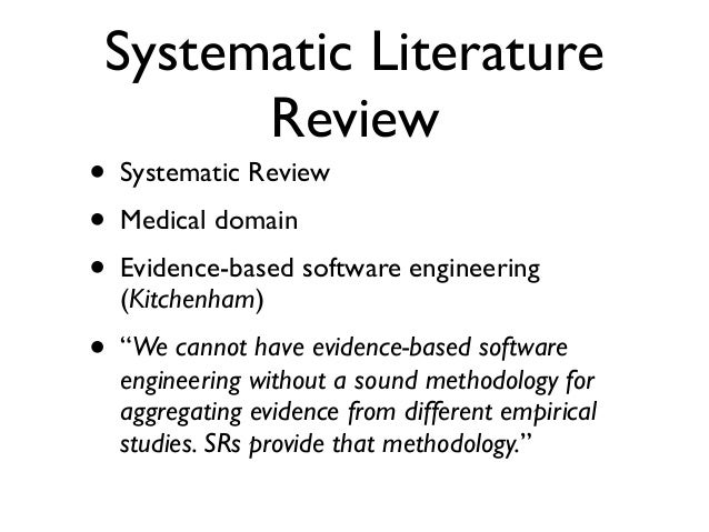 guidelines for performing systematic literature review in software engineering Systematic literature reviews in software engineering - a systematic is for practitioners to use the guidelines to provide appropriate software engineering solutions in a specific context engineering literature review.