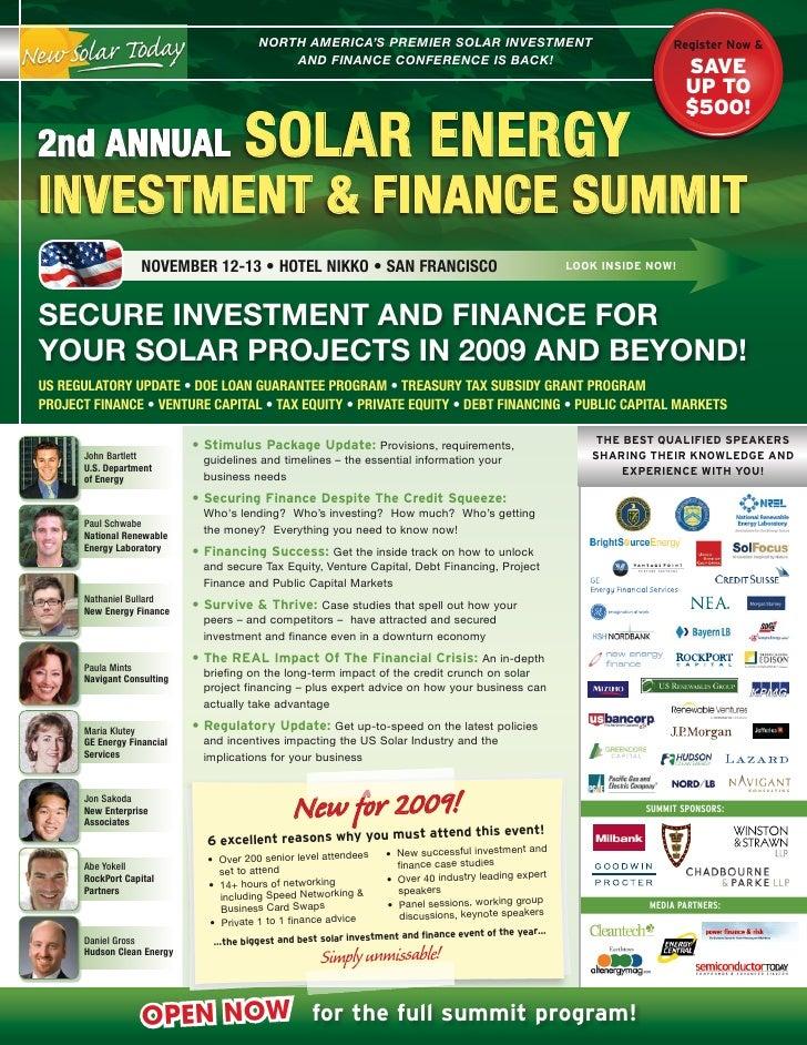 North AmericA's Premier solAr iNvestmeNt                                           RegisterNow&                         ...