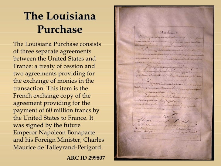 Louisiana purchase date in Perth