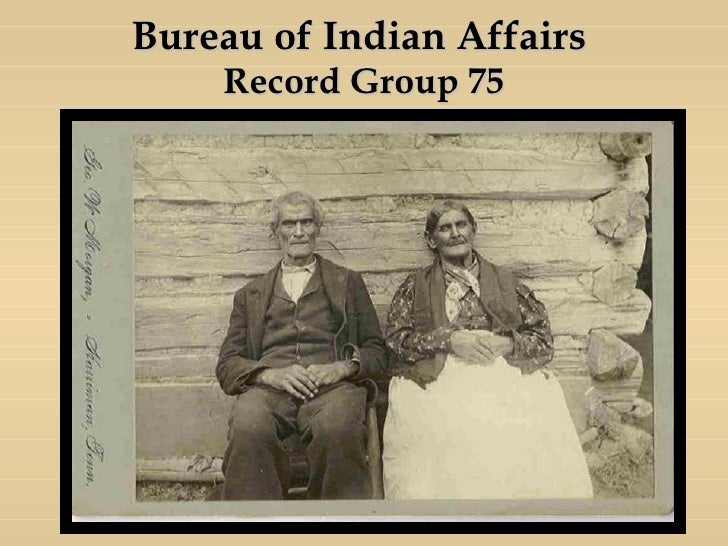 Slsa day 75 years of nara1 for Bureau of indian affairs