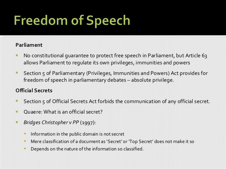 an analysis of freedom of speech as the law Constitutional law and the first amendment: freedom of speech constitutional law and the first amendment: freedom of speech  its analysis.