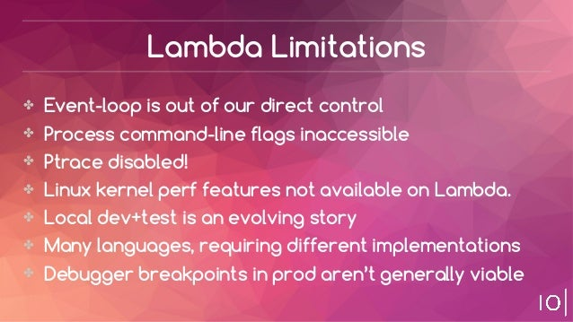 aws lambda limitations