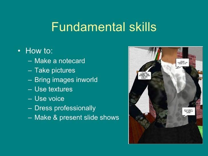 Fundamental skills <ul><li>How to: </li></ul><ul><ul><li>Make a notecard </li></ul></ul><ul><ul><li>Take pictures </li></u...