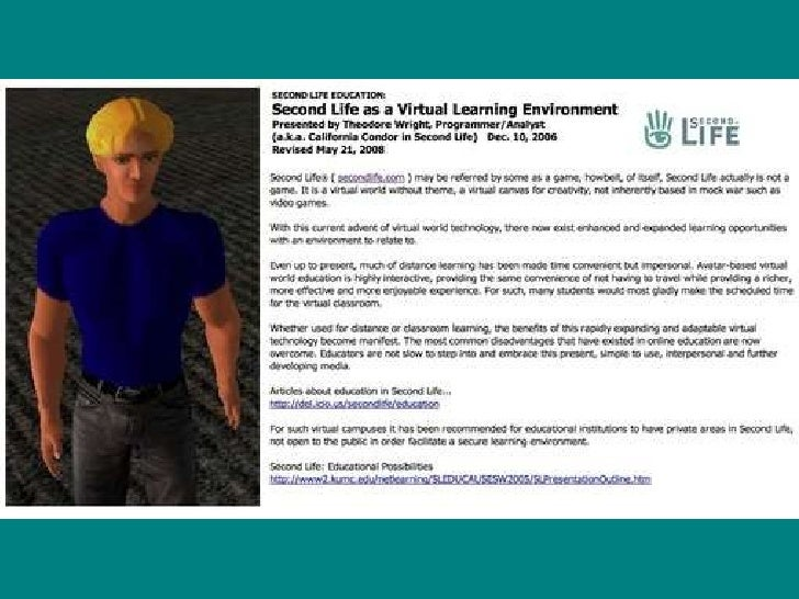 """SL for distance learning  <ul><li>"""" Even up to present, much of distance learning has been made time convenient but impers..."""