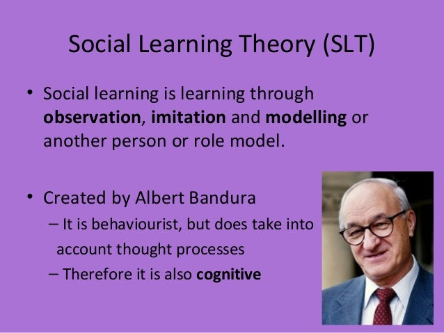 Aggression and Social Learning Theory