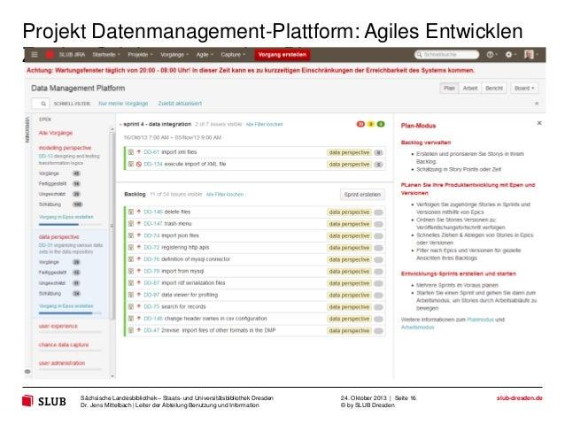 Projekt Datenmanagement-Plattform: Agiles Entwicklen Zweiter Schritt zu neuartiger Discovery  Sächsische Landesbibliothek ...