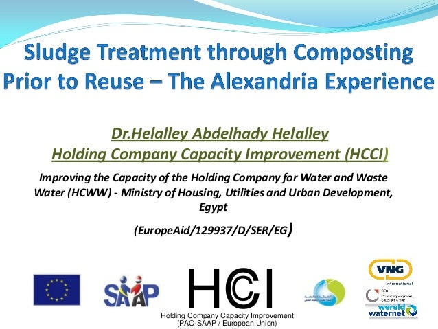 Improving the Capacity of the Holding Company for Water and Waste Water (HCWW) - Ministry of Housing, Utilities and Urban ...