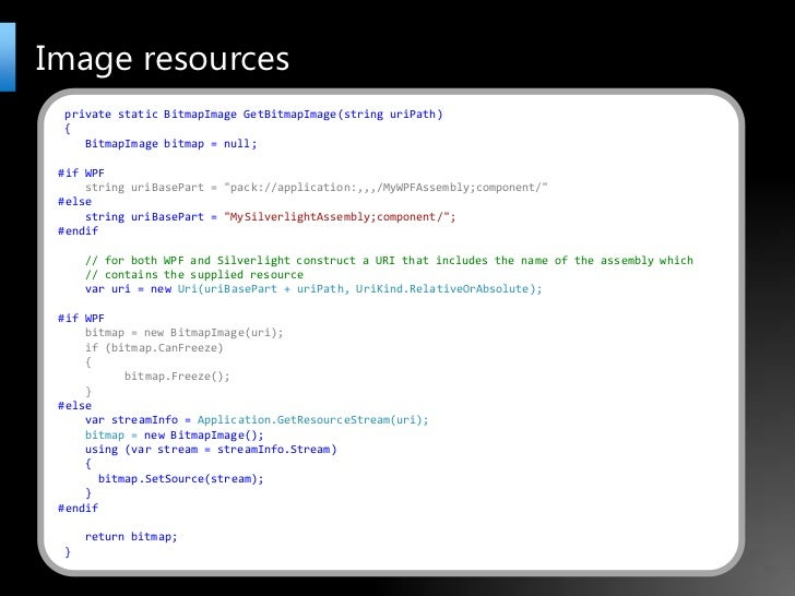 Silverlight UK User Group Cross Platform XAML Applications