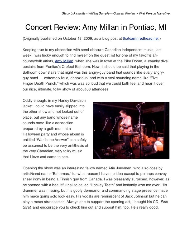 Music concert critique essay for Concert press release template
