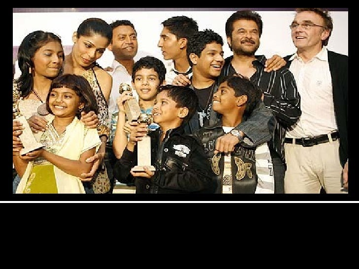 """Cast and crew members of the film """"Slumdog Millionaire"""", pose after receiving their Best Movie award at the Indian Premier..."""