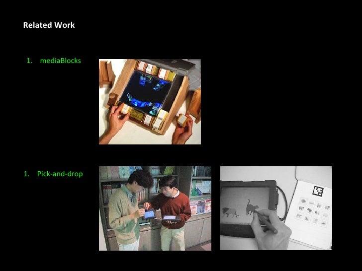 Related Work <ul><li>mediaBlocks </li></ul><ul><li>Pick-and-drop </li></ul>