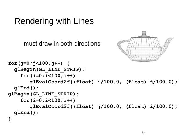 Drawing Lines With Opengl : Curves and surfaces in opengl