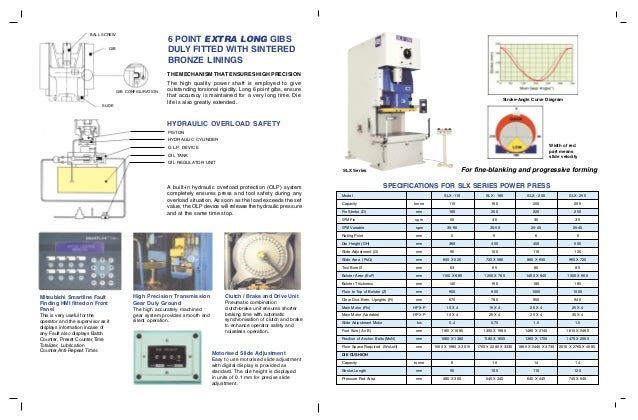 SEW Power Press: SLX & SLXR - Link Motion Seriece Power Press Brochure Slide 2