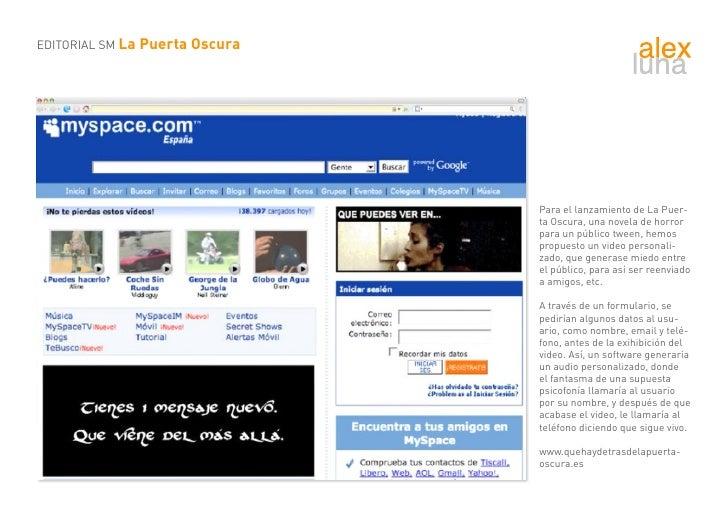 EDITORIAL SM La Puerta Oscura                                     Para el lanzamiento de La Puer-                         ...