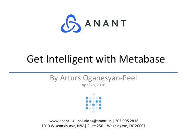 Get Intelligent with Metabase