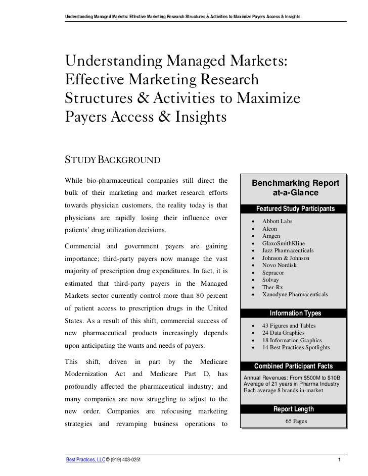 Understanding Managed Markets: Effective Marketing Research Structures & Activities to Maximize Payers Access & InsightsUn...