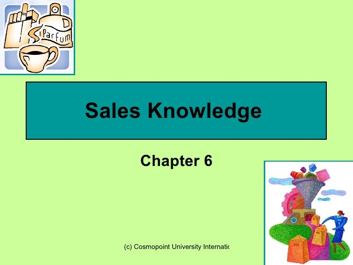 Chapter 6 Sales Knowledge