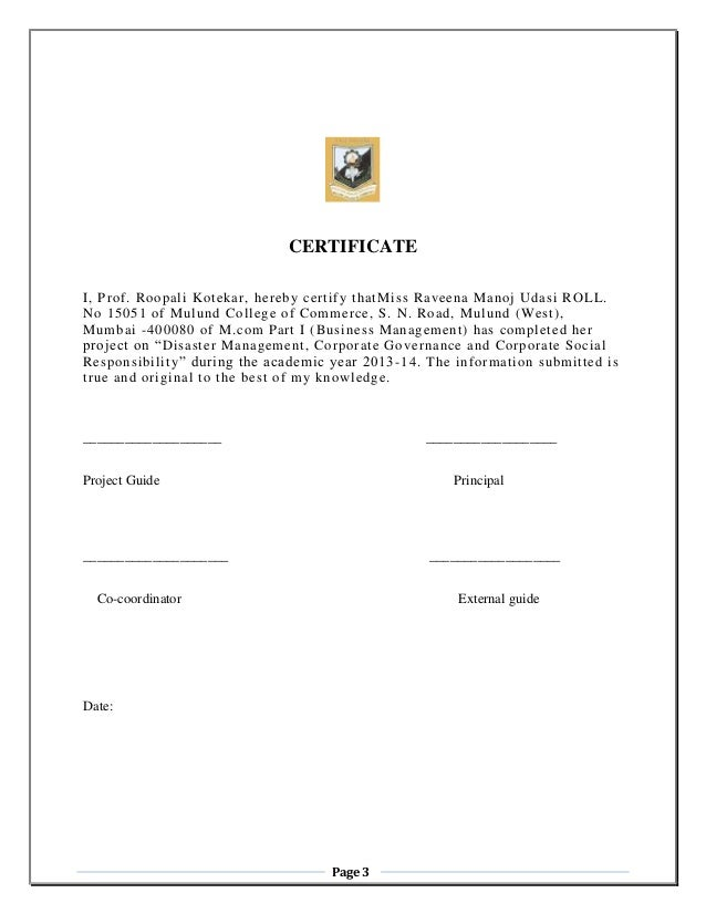 Sm corporate g csr certificate i yadclub Image collections